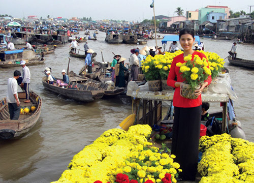 cai rang floating market flower