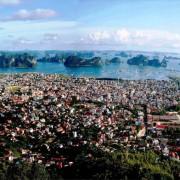 Beholding Buddhist monastery fronting Vietnam's Ha Long Bay lookalike