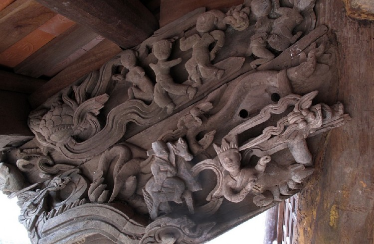 Sex scene Carvings in Phu Lao Temple