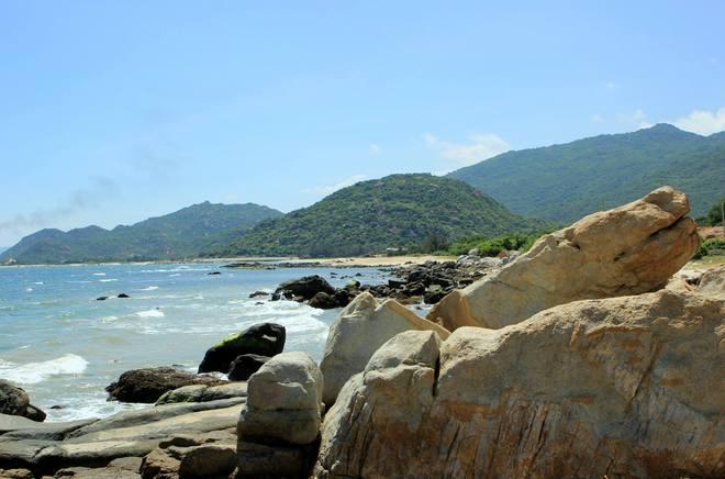 colorful rocky beach - vietnam