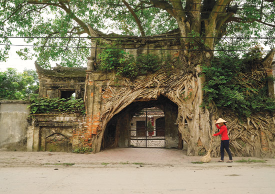 gate village in Hanoi